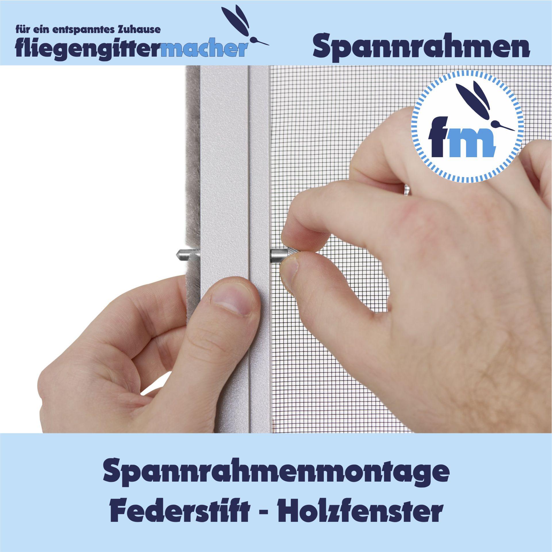Insektenschutz Spannrahmen mit Federstift   www.fliegengittermacher.de   Fliegengitter nach Maß