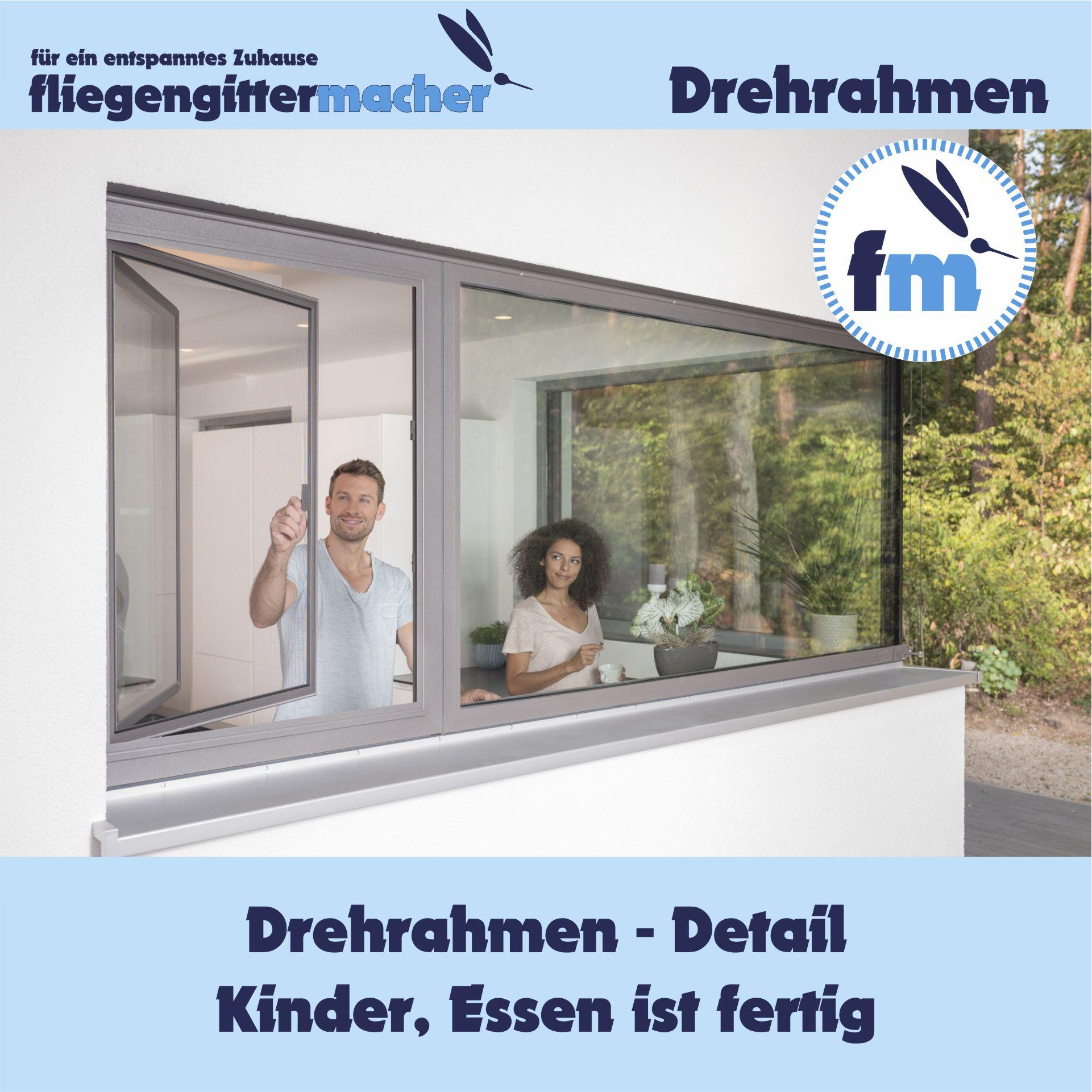 Insektenschutz Drehrahmen   www.fliegengittermacher.de   Fliegengitter nach Maß